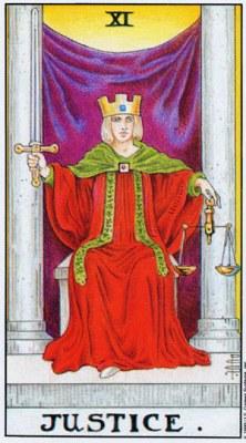 Значение, толкование карты Таро Справедливость, Старший Аркан XI