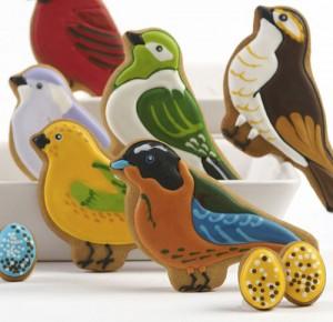 Печенье в форме птиц
