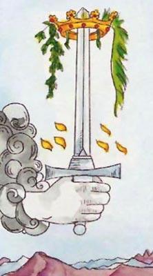 Туз Мечей Младший Аркан