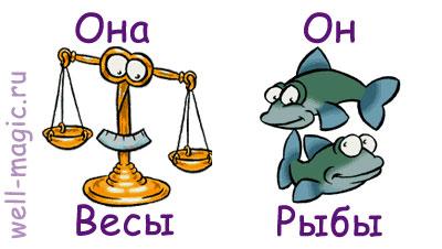 совместимость весов и рыбы по гороскопу
