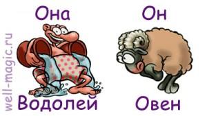 Сексуальный гороскоп овен мужчина и водолей женщина