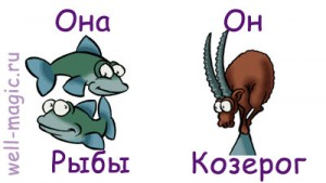 Она-Рыбы, он-Козерог