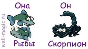 Таблица совместимости Скорпиона и Рыб