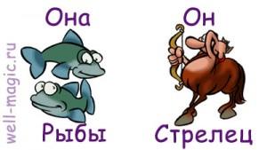Сексуальный рыбы и стрельца
