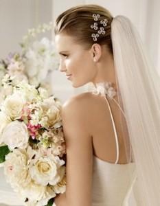 Свадебные фата и платье